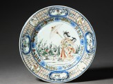 Plate with 'Parasol Lady' design (EA1978.489)