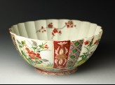 Fluted bowl with prunus and peony sprays