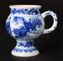 Blue-and-white mustard pot with figure and a horse (EA1978.822)