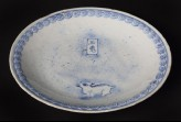 Blue-and-white dish with Jade Rabbit