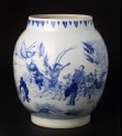 Blue-and-white jar with figures in a snowy landscape (EA1978.943)