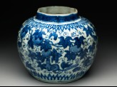 Blue-and-white jar with animals eating fruit (EA1978.952)