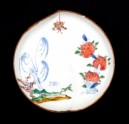 Dish in the form of a peach with willow, butterfly, and peaches (EA1978.1061)