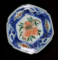 Hexagonal dish with hydrangea and cicada (EA1978.1151)