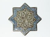Star tile with vegetal and calligraphic decoration (EA1978.1549)