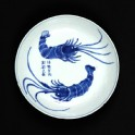 Blue-and-white dish with prawns (EA1978.2022)