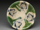 Bowl with blue and green decoration