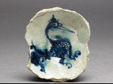 Base fragment of a bowl with bird