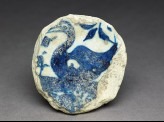 Base fragment of a bowl with swan