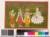 Devi revered by Brahma, Vishnu, and Shiva