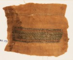 Textile fragment with bands of scrolls, inscription, and chevrons (EA1984.109)