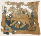 Textile fragment with lion, possibly from a standard