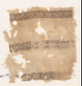 Textile fragment with bands of S-shapes and squares (EA1984.143)
