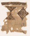 Textile fragment with diamond-shapes and hooks (EA1984.147)
