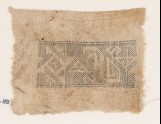 Textile fragment with spiral, inverted hooks, triangles, and S-shapes (EA1984.151)