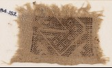 Textile fragment with rectangle and diamond-shapes (EA1984.152)