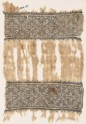 Textile fragment with bands of diamond-shaped squares (EA1984.156)