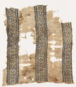 Textile fragment with bands of crosses, diamond-shapes, and arrows (EA1984.158)