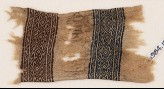 Textile fragment with bands of triangles, S-shapes, and diamond-shapes (EA1984.159)