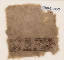 Textile fragment with stylized vine and flowers (EA1984.160)