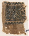 Textile fragment with interlace of squares (EA1984.163)