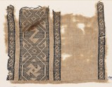 Textile fragment with reversed S-shapes and a spiral