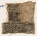 Textile fragment with linked diamond-shapes (EA1984.199)