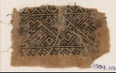 Textile fragment with interlacing crosses and diamond-shapes (EA1984.204)
