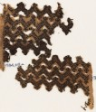 Textile fragment with chevrons and linked S-shapes and Z-shapes (EA1984.219.b)