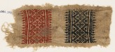Textile fragment with diamond-shapes, quatrefoils, and trees (EA1984.238)