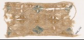 Textile fragment with quatrefoils arranged as diamond-shapes or squares (EA1984.278)