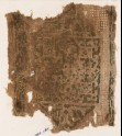 Textile fragment with cartouche, trefoils, and leaves (EA1984.285)