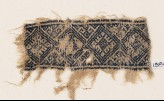 Textile fragment with diamond-shapes (EA1984.293)