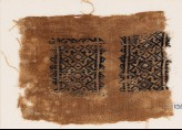 Textile fragment with diamond-shapes and S-shapes