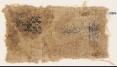 Textile fragment with linked quatrefoils and chevrons