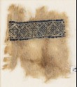 Textile fragment with band of diamond-shapes (EA1984.313)