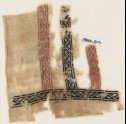 Textile fragment with bands of vines and leaves, probably from a garment (EA1984.317)