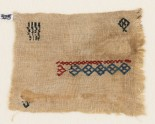 Textile fragment with diamond-shapes and crosses (EA1984.325)