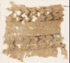 Textile fragment with bands of double chevrons and flowers (EA1984.335)