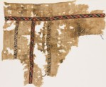 Textile fragment with bands of leaves and lozenges (EA1984.340)