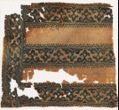 Textile fragment with tendrils, trefoils, and foliate borders