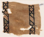 Textile fragment with rhombuses and diamond-shapes (EA1984.383)