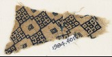 Textile fragment with linked diamond-shapes (EA1984.401)