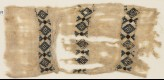 Textile fragment with three bands of diamond-shapes