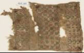 Textile fragment with quatrefoils, possibly from a sash or turban band