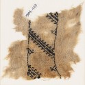 Textile fragment with diagonal lines with hook borders