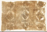 Textile fragment with three bands of stars and hexagons (EA1984.433)