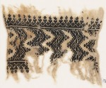 Textile fragment with chevrons with hook borders (EA1984.454)