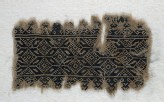 Textile fragment with interlocking hexagons and diamond-shapes