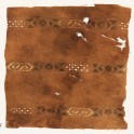 Textile fragment with three bands with hexagonal cartouches